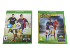 Set of 2 XBOX One Games FIFA 15 and FIFA 16 Deluxe Edition Video Games Football