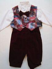 NWT's LIDA USA Boy's Suit 12mo VTG Childs Bowtie Vest Photo Church NOS Outfit