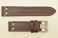 Genuine Luminox watch band 1820 1840  Field  Brown leather 23mm strap Rivets