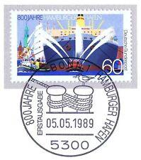 BRD 1989: Hafen von Hamburg! Nr. 1419 mit dem Bonner Ersttags-Sonderstempel! 1A!