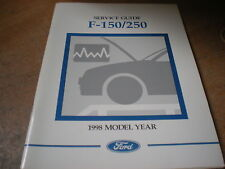 1998 FORD F150 F250 F350 SERVICE GUIDE OWNERS MANUAL SUPPLEMENT BOOKLET ORIGINAL