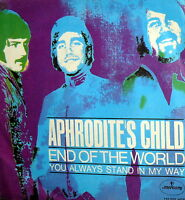 """APHRODITE'S CHILD END OF THE WORLD  7"""" BEAT RARE PS ITALY 68"""