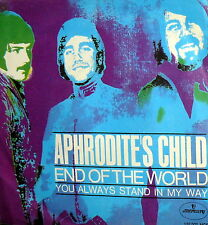 "APHRODITE'S CHILD END OF THE WORLD  7"" BEAT RARE PS ITALY 68"