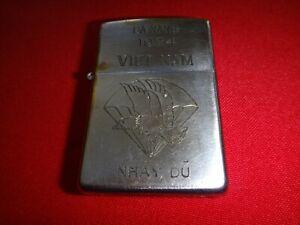 Vietnam War Year 1974 Zippo Lighter DA NANG 1974, ARVN Parachute NHAY DU Logo