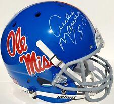 ARCHIE MANNING #18 SIGNED OLE MISS REBELS FOOTBALL HELMET w/COA GO REBS!