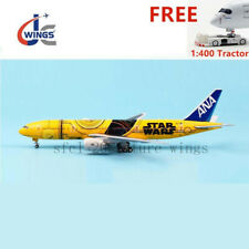 (Rare)1:400 JC Wings ANA B777-200ER JA743A C-3PO Aircraft Model+Free Tractor