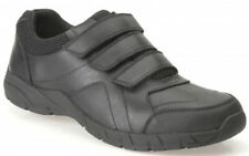 Clarks AIR SUFFOLK Older Boys Black Leather Shoes 3 - 8 Adult H Fit NEW BOXED