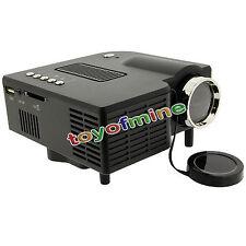 LED HD portatile Proiettore Home Cinema Theater PC SD Laptop VGA USB AV HDMI