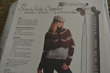 Karabella Knitting Pattern Super Yak Capelet with Arm Warmers