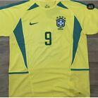 Brazil World Cup 2002 Home football Shirt RONALDO  9 Size XL