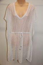 NWT Calvin Klein Swimwear Bikini Cover Up Dress Size L XL White Adj. Waist