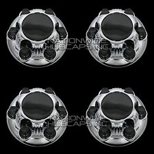 """4 New CHEVY GMC 1500 6 Lug 16"""" & 17"""" CHROME Wheel Center Hub Caps Rim Nut Covers"""