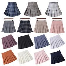 Women Fashion Summer high waist pleated skirt Wind Cosplay skirt kawaii XS-3XL