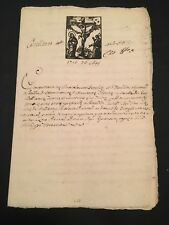 OLD DOCUMENT IN LATIN 1756                       16 pages
