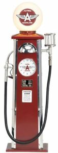 Retro Scale Replica Flying A Gas Pump with Clock and Lamp Morgan Cycle 23102