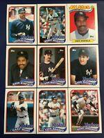 1989 Topps NEW YORK YANKEES Complete Team Set 35 MATTINGLY-HENDERSON Sharp LOOK