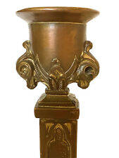 Antique Figural Ornate French Gilt Bronze Candle Stick - Candle Holder