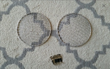 Suzuki Samurai Jimny Headlight Cover Stone Guards Chrome w/ brackets SJ410