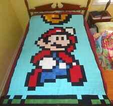 "Super Mario Quilt Kit -Kona Bay Solids - 48"" x 72"" Finished Single - 8 Bit Quilt"
