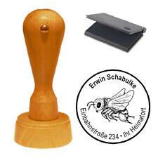 Stempel « Biene Wespe Imker » Adressenstempel Motivstempel Holzstempel