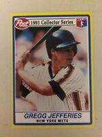 1991 Post Cereal Gregg Jefferies Baseball Card #9 Of 30 New York Mets