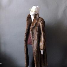 Fur Coat Northern Lights Bloomingdales Long Maxi Beaver Fur Coat sz S M 4 6 8
