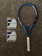 New listing Babolat Pure Drive 110 Tennis Racquet + 2 Babolat Pro Hurricane String Sets