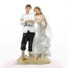 COPPIA Spiaggia sulla sabbia-COMMEDIA CAKE topper Sposa E Sposo Wedding Cake topper