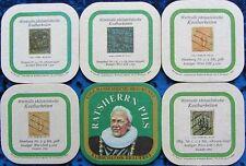 Bierdeckel Serie Elbschloss Hamburg - wertv.Briefmarken Sammlung 1973