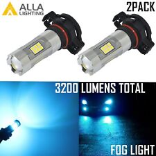Alla Lighting 3200lm 8000K 27-LED 5202 Fog Light Driving Bulbs Lamps Ice Blue 2x
