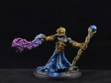 Painted Chaos Sorcerer from Gamezone Miniature, wizard D&D character male