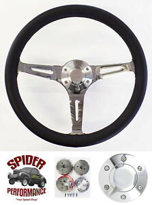 """Fits all cars 1965-1969 Mercury steering wheel 15"""" MUSCLE CAR LEATHER"""