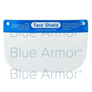 Face Shield - Clear Plastic Full Size - Package of 5