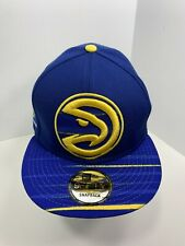 New Era 9FIFTY Royal Blue Atlanta Hawks SnapBack Flat Bill Cap!