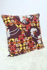 "Original Retro Fabric Cushion Cover 80s 16x16"" Geometric Vintage Red"