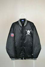 Mens Los Angeles Raiders Classic Team NFL Vintage Reebok Jacket Bomber Size L