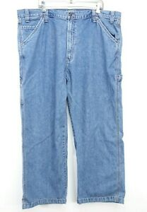 New Signature By Levi Mens Relaxed Carpenter Work Cotton Denim Jeans 44 x 30