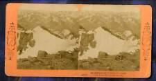 Glaciers Luchon Pic du Midi J.A Pyrenees B.K. Photo stereo stereoview 1870-80'