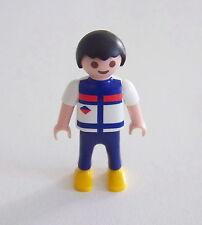 PLAYMOBIL (3163) ENFANT MODERNE - Garçon Tee Shirt Blanc Bleu Pantalon Bleu