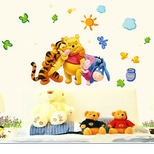 Pooh Tiger EeyeOre DIY Removable Wall Decals Sticker Vinyl Mural Room Decor UK