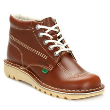 Kickers Mens Tan Brown Kick Hi Leather Boots Lace Up Warm Winter Shoes