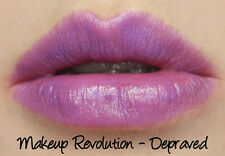 "Makeup Revolution Scandalous Shade ""Depraved"" Amazing Lipstick Purple Lilac Emo"