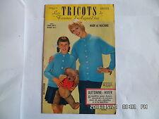 LES TRICOTS DE FEMMES D'AUJOURD'HUI N°121 1959 MODELES FEMME ENFANT HOMME    J46