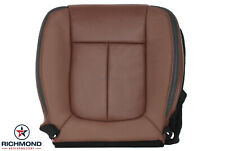2014 F150 Platinum-Driver Side Bottom Replacement Leather Seat Cover Pecan Brown