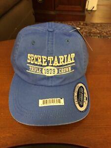 SECRETARIAT TRIPLE CROWN 1973 HAT NWT BLUE CLASSIC CUT AHEAD