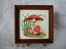 Rosenthal Art Deco sehr seltenes Porzellanbild Pilze Fliegenpilz handgemalt