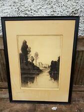 Antique signed etching Andrew Fairbairn Affleck c1910