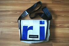 FREITAG MEDIUM MESSENGER SHOULDER BAG RARE WHITE BLUE COLOR ORIGINAL TRUCK TARPS