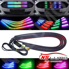 "4-Strip 23.6"" 7Color RGB 72-LED Knight Night Rider Scanner Lighting Bars Flowing"