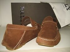 NEW $495 BALLY Men US 11.5 Brown Suede Leather Moccasin Driver Slip-Ons Shoes BX